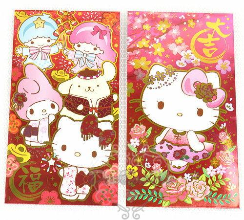 kitty美樂第雙子星布丁狗新年系列全面金閃閃長形紅包袋950230