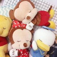 小熊維尼周邊商品推薦PGS7 日本迪士尼系列商品 - 日本 迪士尼 睡姿系列娃娃 (M) 小熊維尼 米奇 米妮【SJJ6655】