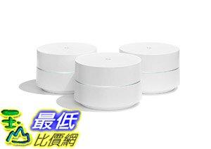 [8美國直購] Google 無線網路分享器 WiFi system, 3-Pack - Router replacement for whole home coverage (NLS-1304-25