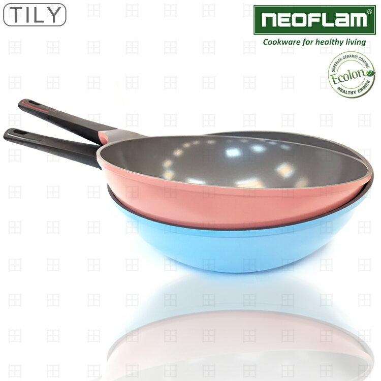 大田倉 NEOFLAM RETRO 陶瓷鍋 不沾鍋 30公分 EK-TL-W30 不含鍋蓋 韓國製 兩色分售 108603