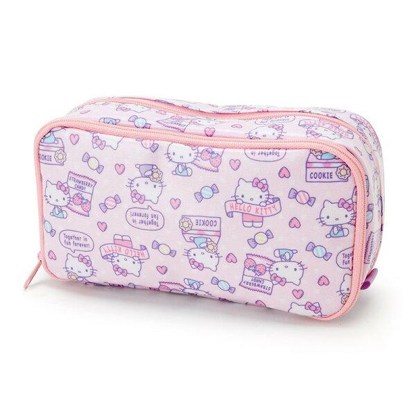 X射線【C924310】HelloKitty筆袋-糖果,美妝小物包筆袋面紙包化妝包零錢包收納包皮夾手機袋鑰匙包