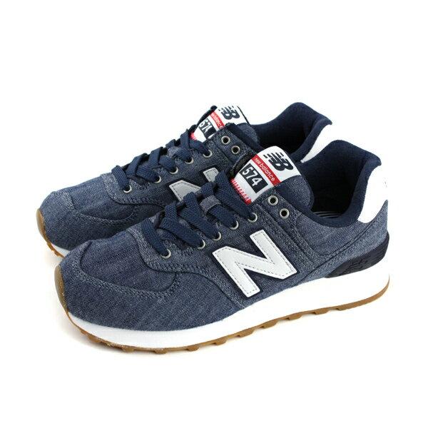 NEWBALANCE復古鞋運動鞋女鞋深藍ML574YLE-Dno412