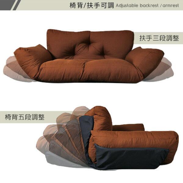 雙人沙發  貴妃椅  扶手沙發《日系扶手雙人沙發床椅》-台客嚴選 4
