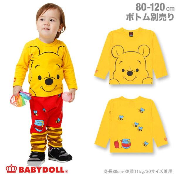 日本BABYDOLL童裝迪士尼小熊維尼兒童長袖上衣CBT-25309372。1色(2268)-日本必買免運代購