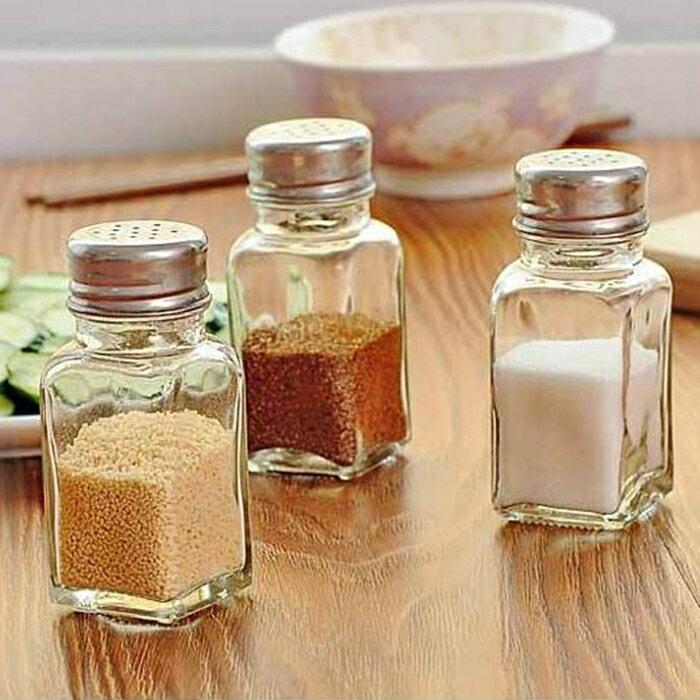[Hare.D] 廚房玻璃調味罐調料瓶鹽罐子調味料瓶胡椒粉瓶調味瓶燒烤調料罐