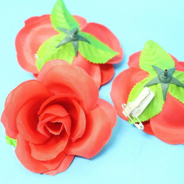 玫瑰胸花 大尼龍布玫瑰花胸花 玫瑰禮花(附84黏夾) / 一件1000朵入 { 定20 }  0