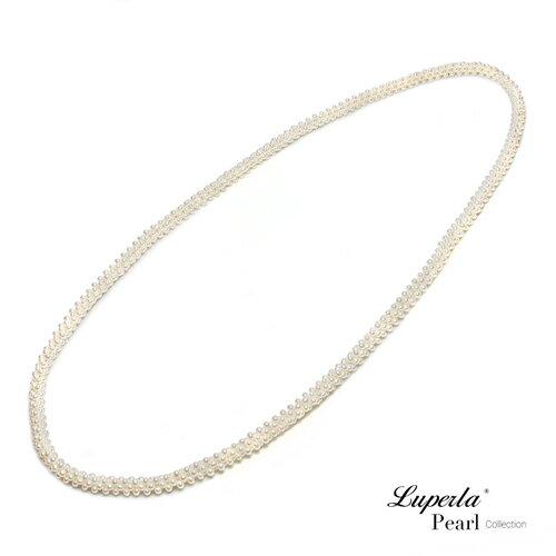 大東山珠寶 法式優雅 天然珍珠項鍊 歐美古典編織珠寶 2