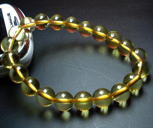 黃水晶手鏈 水晶手鏈 男女款手鏈 時尚水晶手鏈