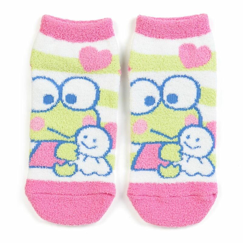 【真愛日本】17091600032 保暖踝襪25cm-KR玩偶粉+ABD 三麗鷗家族 Keroppi 大眼蛙 皮皮蛙 襪子 短襪