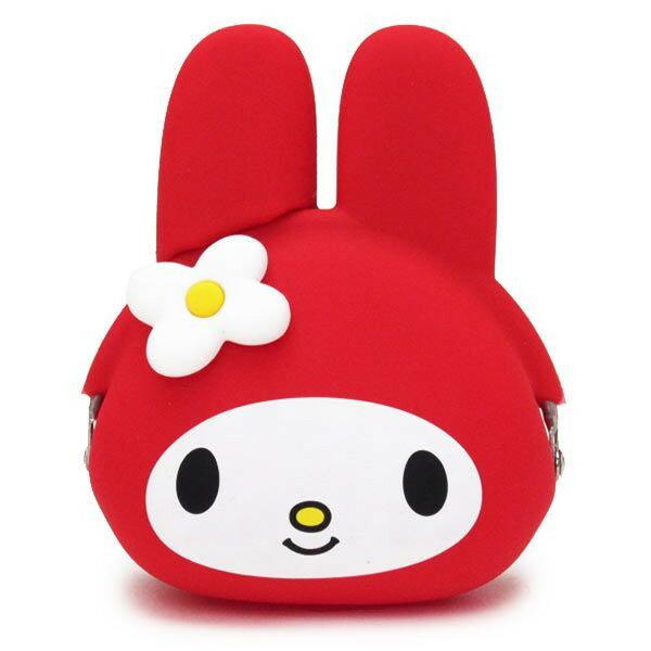 【真愛日本】14072800013 矽膠零錢包-MM頭形紅 三麗鷗家族 Melody 美樂蒂 小錢包 矽膠錢包