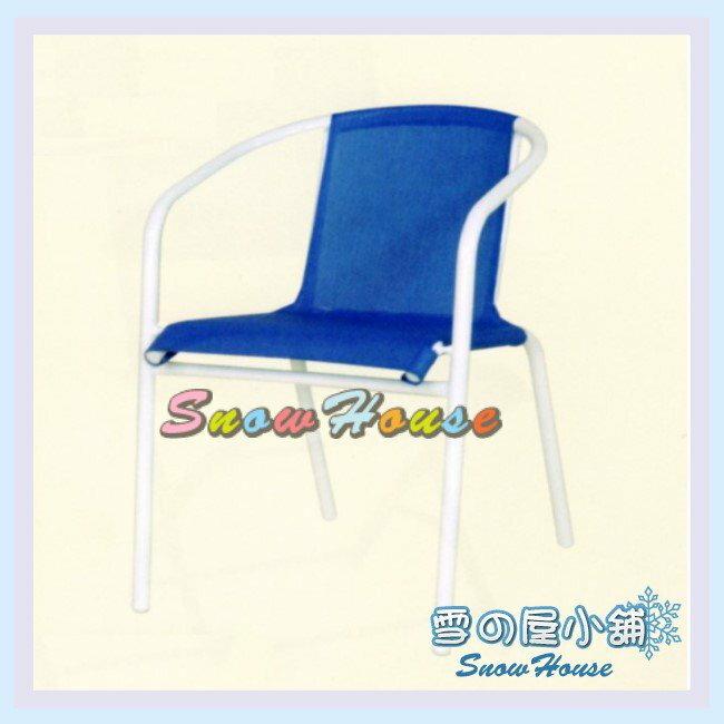 ╭~雪之屋居家 館~╯ C96001 P39鐵製紗網椅~^(白管藍網^) 櫃檯椅 吧檯椅