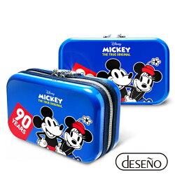 【加賀皮件】Deseno Disney 迪士尼 米奇系列 90週年 限量 紀念 手拿包 收納盥洗包 化妝包 航空硬殼包 201 經典藍