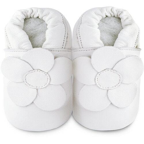 【HELLA 媽咪寶貝】英國 shooshoos 安全無毒真皮手工鞋/學步鞋/嬰兒鞋_純白冰雪花_101035 (公司貨)