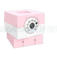 荷蘭Amaryllo愛瑪麗歐 iBabi HD 360 照護專用 無線網路攝影機 粉紅款 720P+256-bit加密+真雙向通話