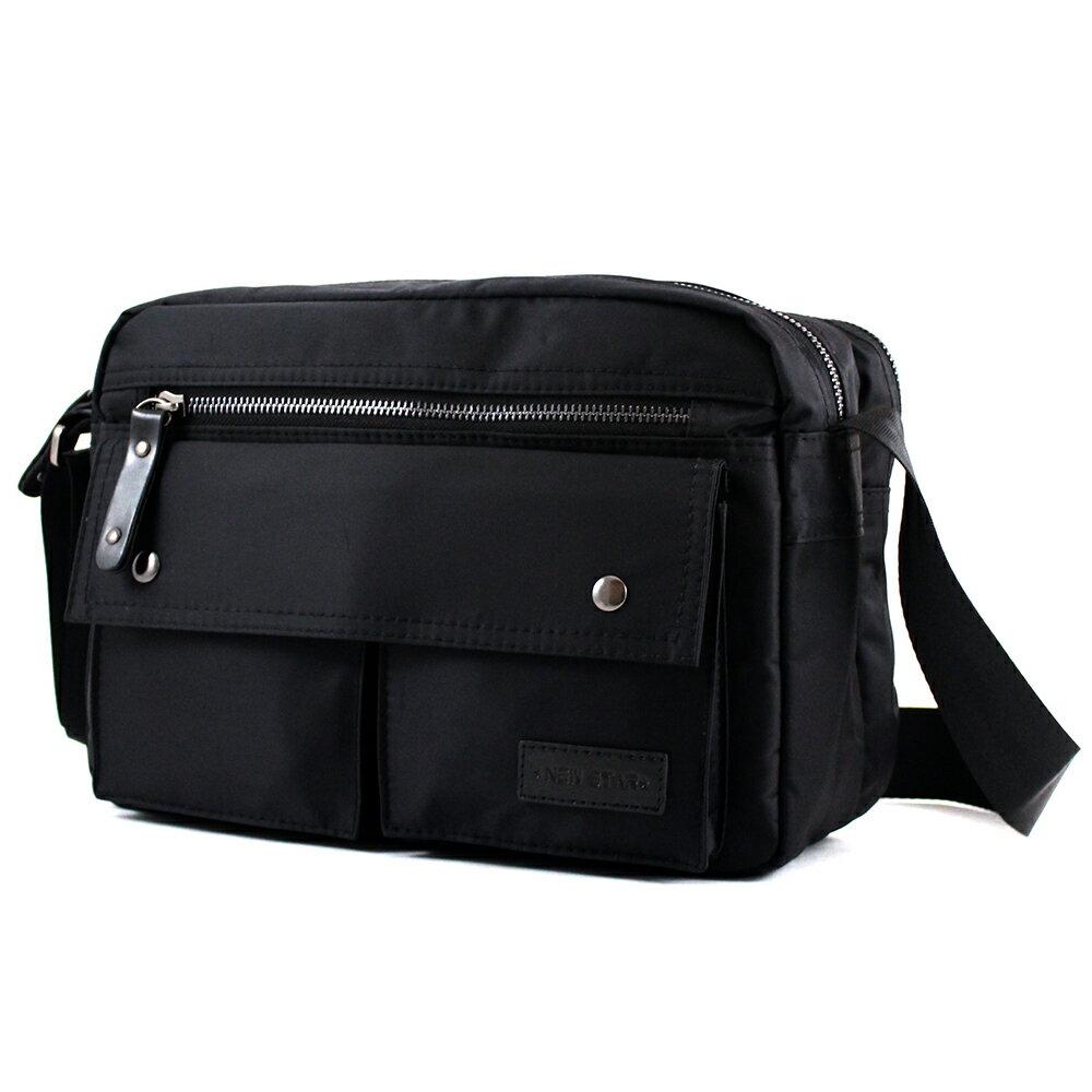 日系防水側背包包  (機能 雙口袋 雙層 斜背包 porter風 NEW STAR BL89 1