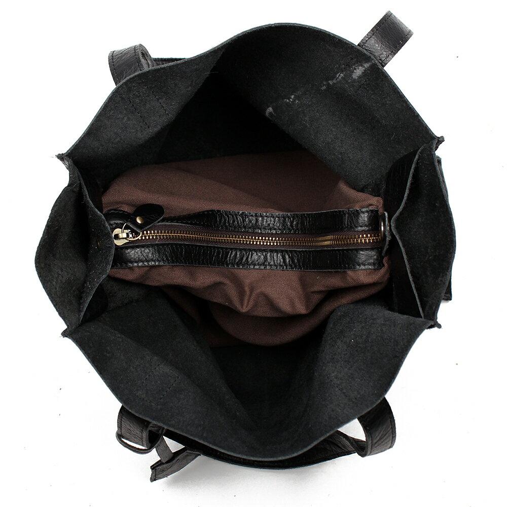 【BEIBAOBAO】氣質名媛牛皮壓紋肩背包(共兩色:  氣質黑) 5
