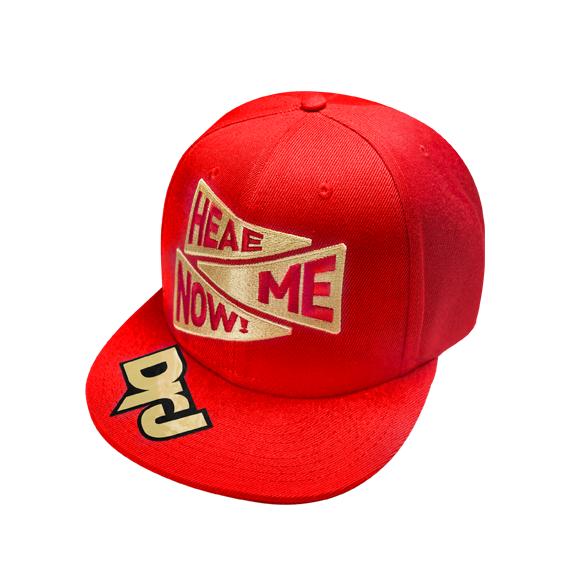 DrJ 電繡HEAE ME棒球帽 紅色