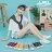 【KWF7587-1】帆布鞋韓版百搭經典 休閒素面棉質帆布 小白鞋 魔鬼氈魔術貼穿拖 5