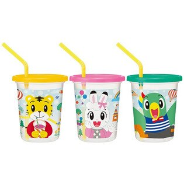 日本製巧虎兒童吸管水杯組320ml3入吸管杯學習杯*夏日微風*