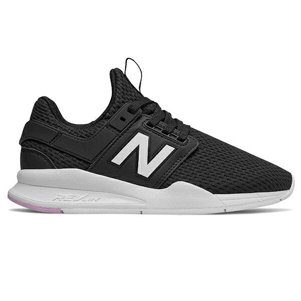 Shoestw【WS247TE】NEW BALANCE NB247 慢跑鞋 網布 襪套 黑白紫 女生尺寸 1
