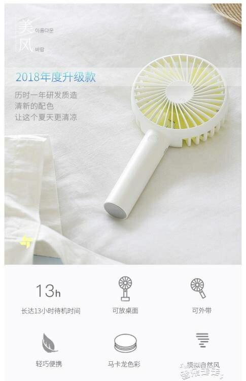 USB風扇solove素樂小風扇usb充電學生可愛桌面床上宿舍靜音手持手拿便攜式爾碩數位