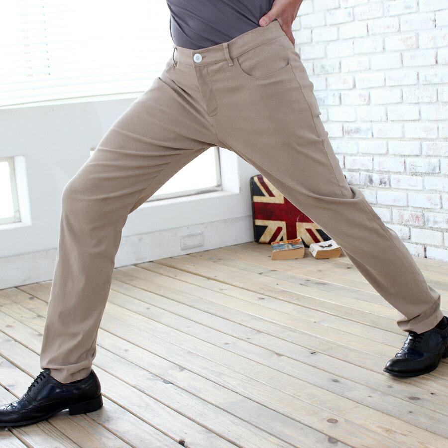 紳士商務彈性休閒褲