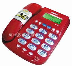 三洋 SANYO TEL-982 / TEL982 來電顯示有線電話 來電超大鈴聲 紅色/銀色