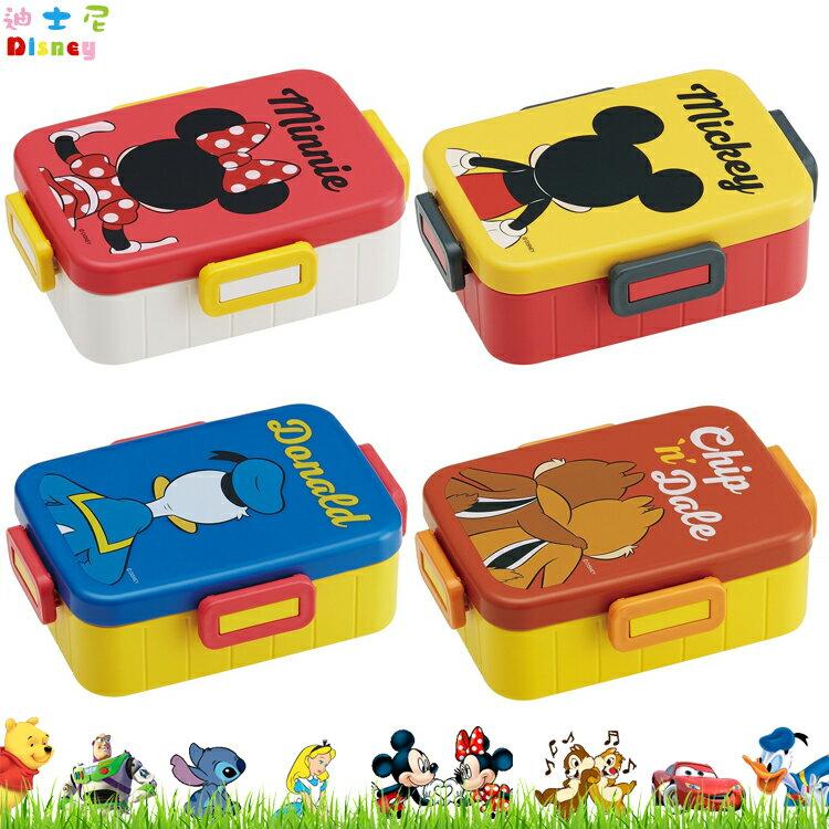 日本製 迪士尼 米奇米妮唐老鴨奇奇蒂蒂 4點樂扣 塑膠便當盒 飯盒 保鮮盒 日本進口正版 375804