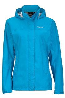 【【蘋果戶外】】Marmot46200-2264水藍美國女PreCip土撥鼠防水外套類GORE-TEX防風外套風衣雨衣風雨衣