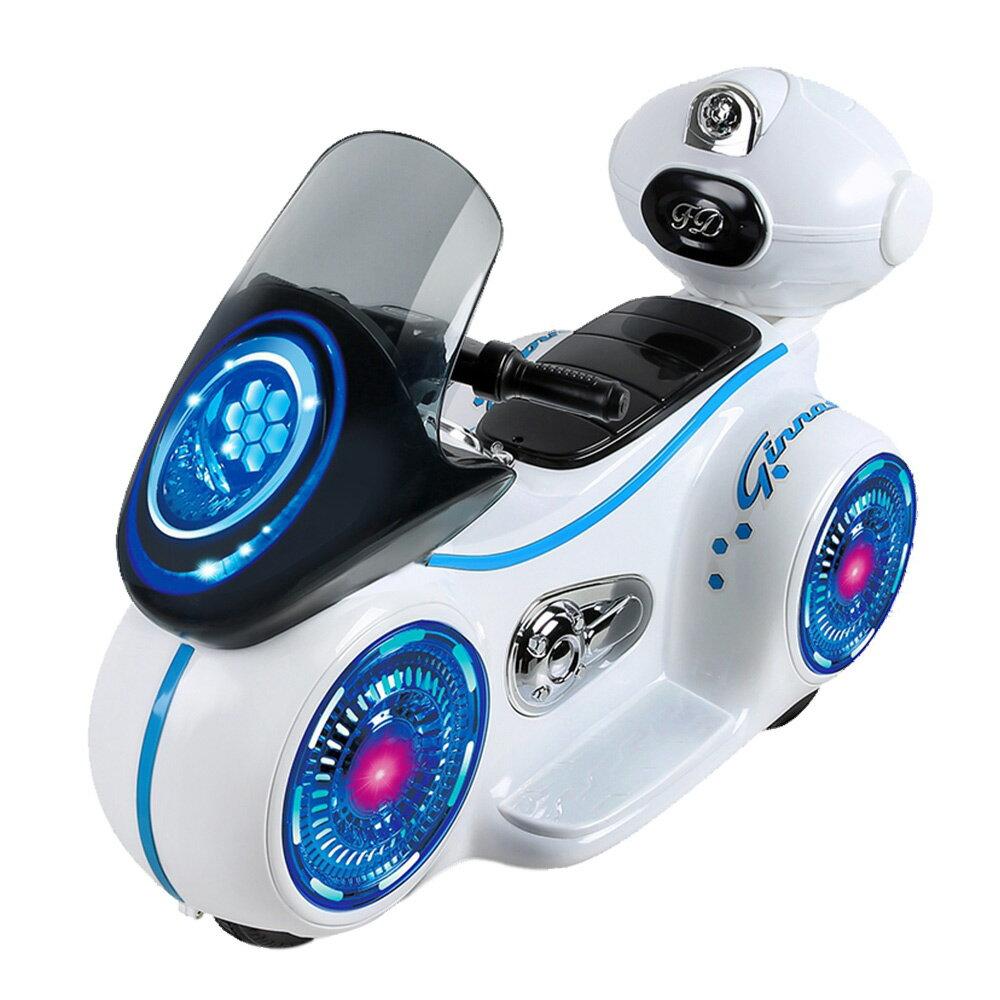 寶貝樂 星際戰警炫光漂浮車手控電動車-白色(BTRT9803W)