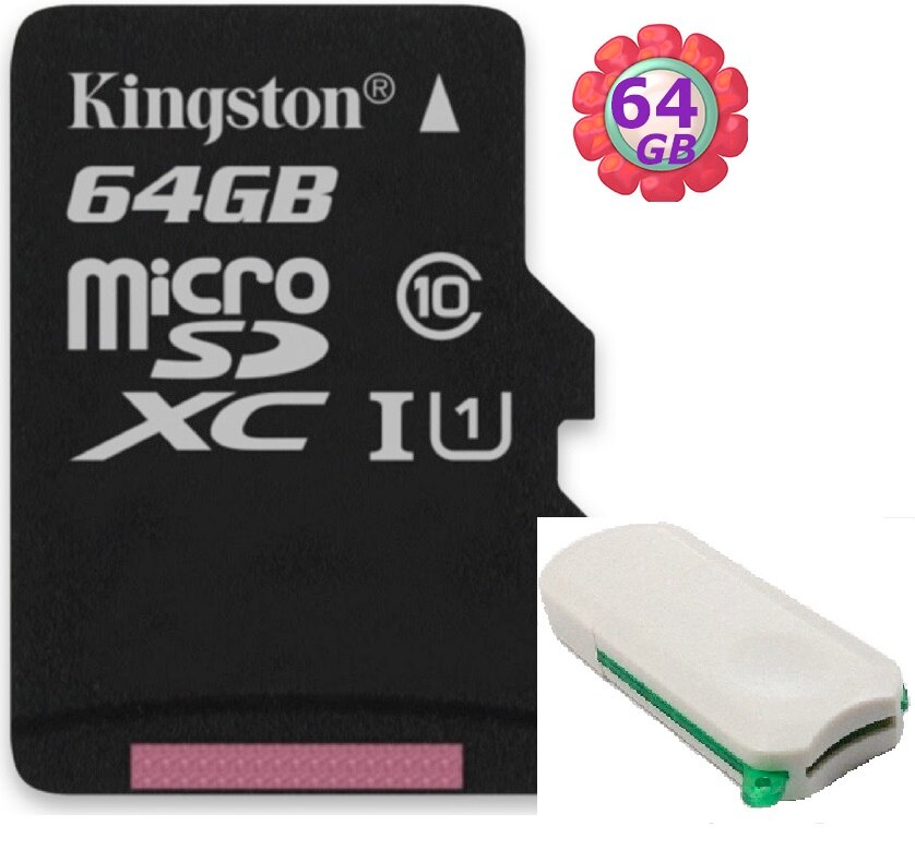 【附V39 microSD 讀卡機】 KINGSTON 64GB 64G 金士頓【80MB/s】microSDXC microSD SDXC micro SD UHS-I UHS U1 TF C10 ..