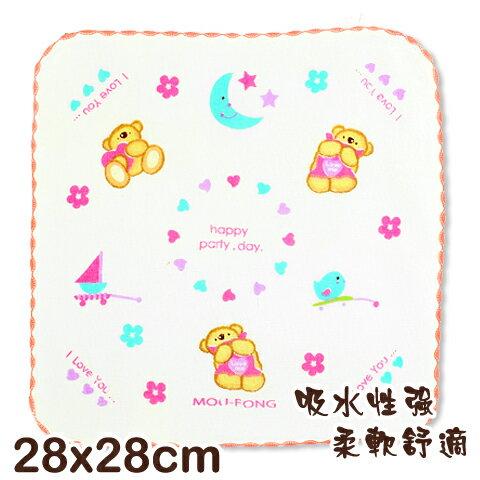 可愛動物純棉紗布方巾 熊熊印花 平價高品質的選擇 台灣製