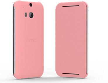 HTC(HC V941) One M8原廠智慧可翻式保護套-粉