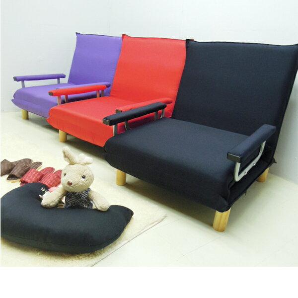 #買就送同色月亮枕*1-單人沙發床/和室椅/簡易單人床/看護床《彎彎糖果單人多功能沙發床》-台客嚴選