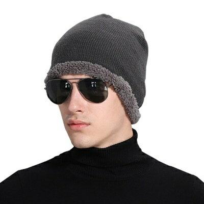 ~針織毛帽男女帽子~ 加絨保暖男女 5色73if45~ ~~米蘭 ~