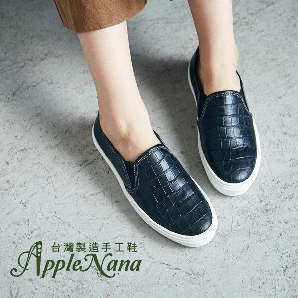 AppleNana。歐美部落客本季重點。真皮氣墊懶人樂福鞋【QT12021380】蘋果奈奈 0