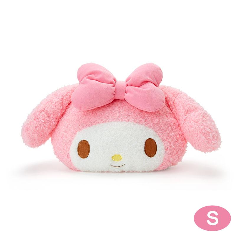 【真愛日本】4901610113363 造型靠墊S-MM大臉ACP 美樂蒂 Melody 三麗鷗 靠墊 抱枕 枕頭