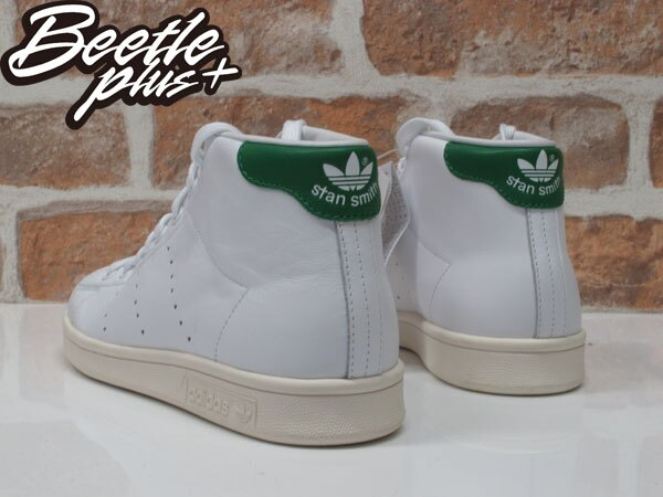 BEETLE ADIDAS ORIGINALS STAN SMITH MID 白綠 愛迪達 復古 奶油底 B24538 2
