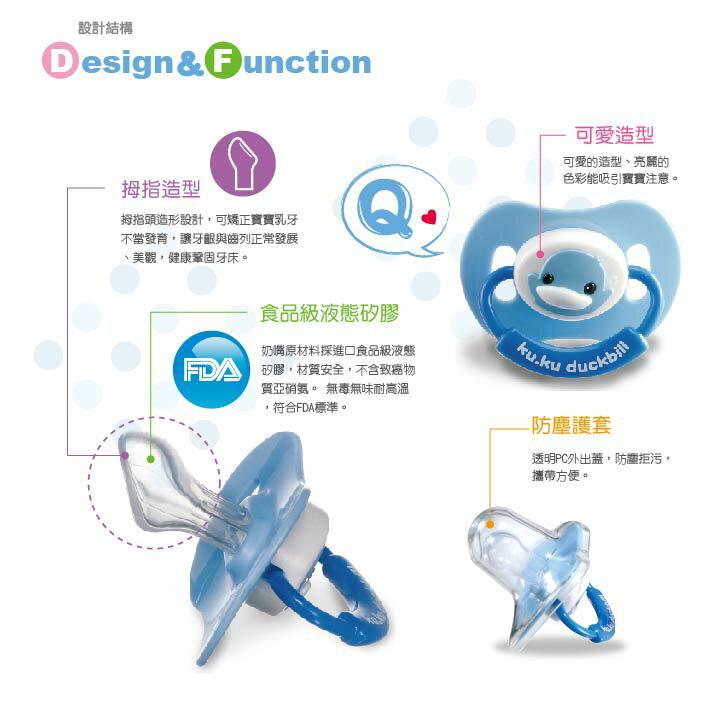 『121婦嬰用品館』KUKU 造型安撫奶嘴 - 較大拇指型 5