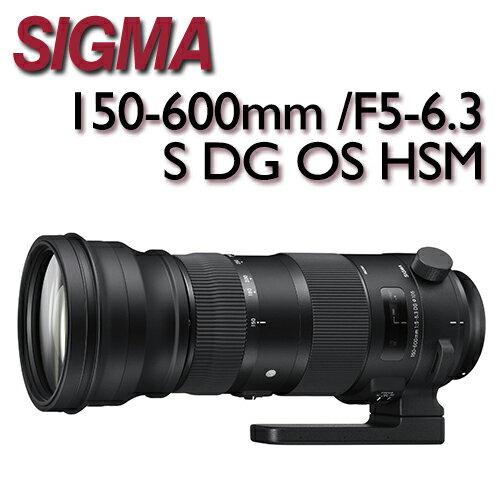 SIGMA 150-600mm F5-6.3 S DG OS HSM 全片幅 拍鸟 超望远镜头 防手震 150-600【公司货】