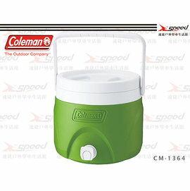 【速捷戶外】【美國Coleman】7.6L可堆疊飲料冰桶 保冷桶/保冰桶/飲料筒 CM-1364(綠)