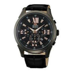 Orient 東方錶(FTW04005B)時尚青春計時腕錶/黑面44mm