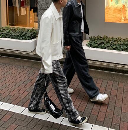FINDSENSE X  復古 時尚寬松休閑寬松 休閑 氣質暗條紋西裝外套