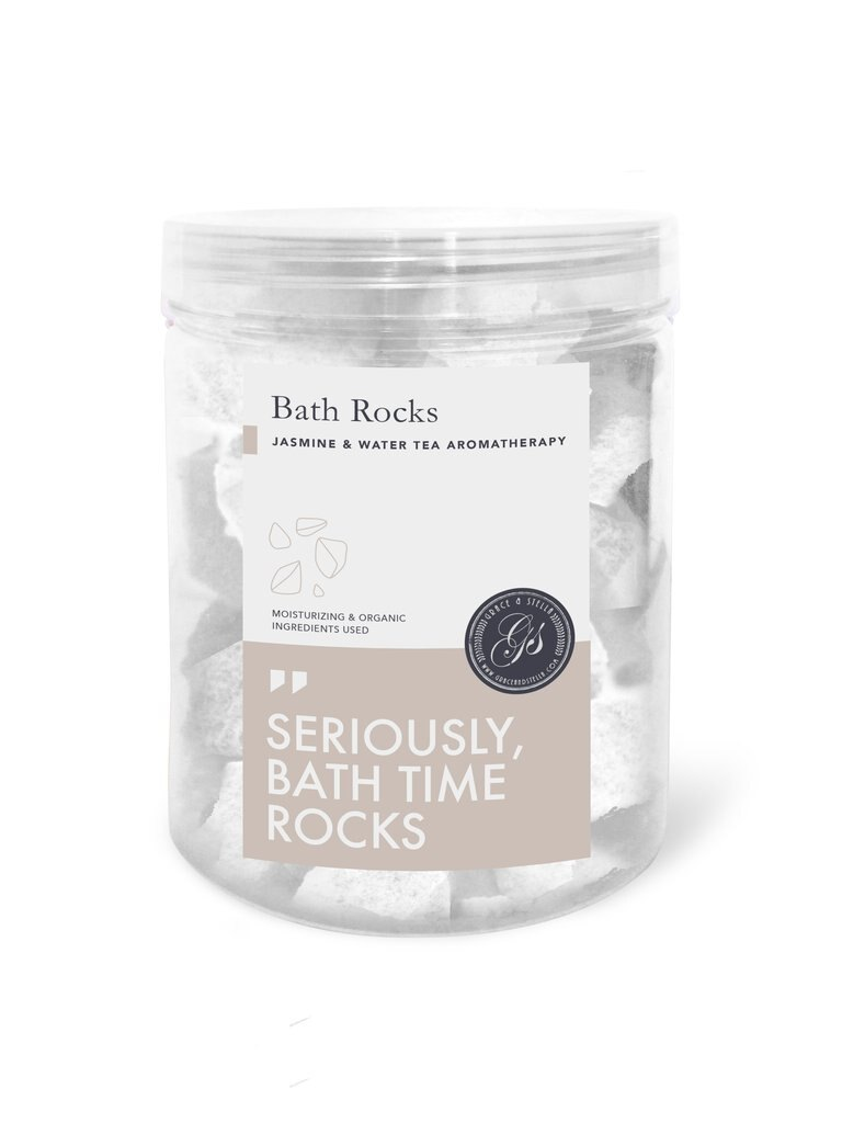 Bath Bomb Rocks (320g, Jasmine) by Grace & Stella Co. 0