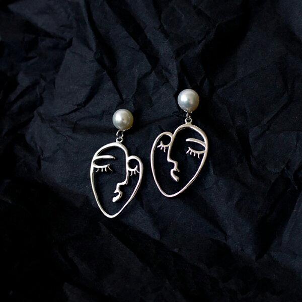 UNIDOSTORE:[U'NIDO]原創手作畢卡索系列-夢TheDream耳環S925天然珍珠手工雕刻暖心禮物情人節禮物
