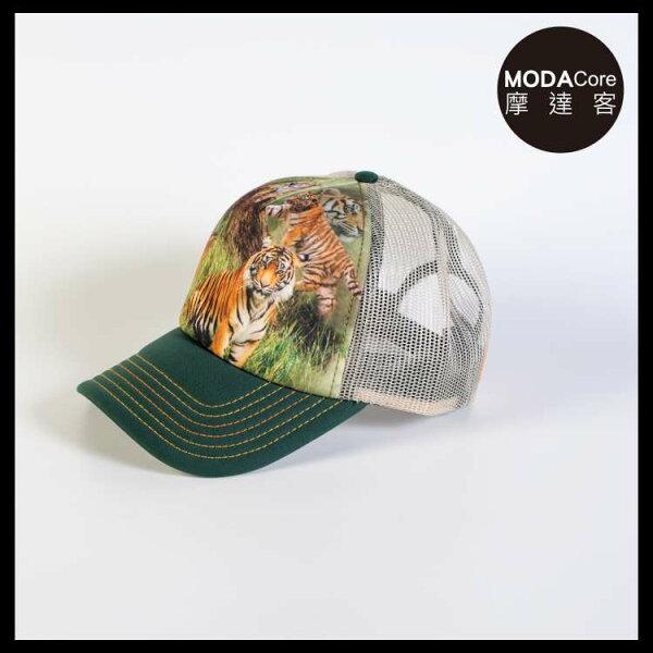 【摩達客】(預購)美國進口TheMountain野虎群藝術棒球帽網帽5-Panel新五分割帽