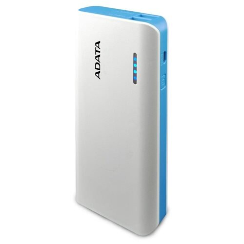 ADATA PT100 10000mAh Power Bank with LED Lighting White/Blue (APT100-10000M-5V-CWHBL) 0