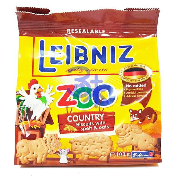 (德國) Bahlsen 百樂順 ZOO 燕麥動物餅 1包 100 公克 特價 74 元【4017100124112 】(Leibniz ZOO)