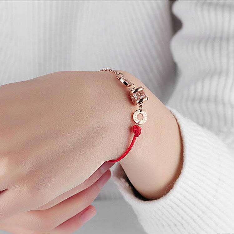 【5折超值價】時尚精美簡約水晶圓餅造型女款手環 2