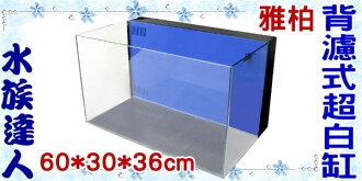 【水族達人】雅柏UP《背濾超白缸 60*33*36cm.藍色.TK-UW-BF-60B》 平面缸 魚缸 背濾缸